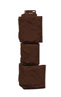 Угол наружный Коричневый 459х140х140 мм Камень крупный Дачные FINEBER