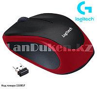 Компьютерная мышь беспроводная оптическая 1000 dpi USB Logitech M186 Wireless Mouse красный