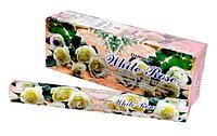 Благовония угольные Белая роза (White Rosa Darshan) 20шт