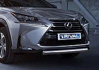 Lexus NX 2014-2017 Защита переднего бампера 75x42 овал