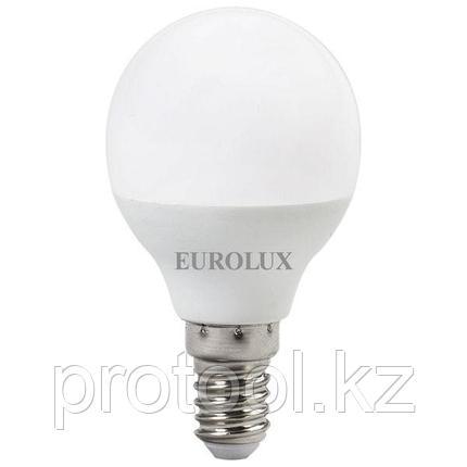 Лампа светодиодная LL-E-G45-7W-230-2,7K-E14 (шар, 7Вт, тепл., Е14) Eurolux, фото 2