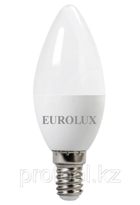 Лампа светодиодная LL-E-C37-7W-230-2,7K-E14 (свеча, 7Вт, тепл., Е14) Eurolux