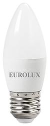 Лампа светодиодная LL-E-C37-6W-230-2,7K-E27 (свеча, 6Вт, тепл., Е27) Eurolux