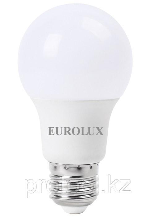 Лампа светодиодная LL-E-A60-7W-230-2,7K-E27 (груша, 7Вт, тепл., Е27) Eurolux