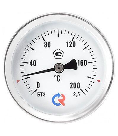 Термометр биметаллический для а/бетона с защитной гильзой (корпус алюминиевый) (0+200*С), L=100 mm