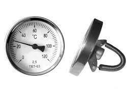 Термометр биметаллический ТБТ-63, (0...+150), кл.точн.2,5, ц.дел.2*С