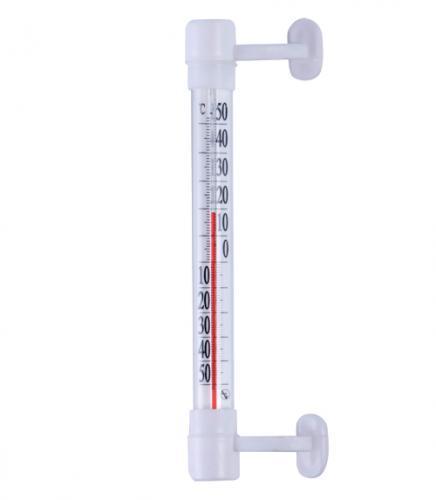Термометр бытовой оконный Т-5 (-50...+50) универсальный, ц.д.1, основание-пластмасса, крепление-липучка