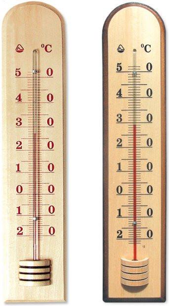 Термометр бытовой сувенирный Д-27 (-10+50*С) цена деления 1, основание-дерево, 205х42мм