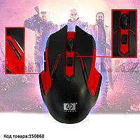 Беспроводная игровая мышь оптическая USB 6 кнопок 1600 dpi HP 2.4 GHZ Wreless mouse черно-красная