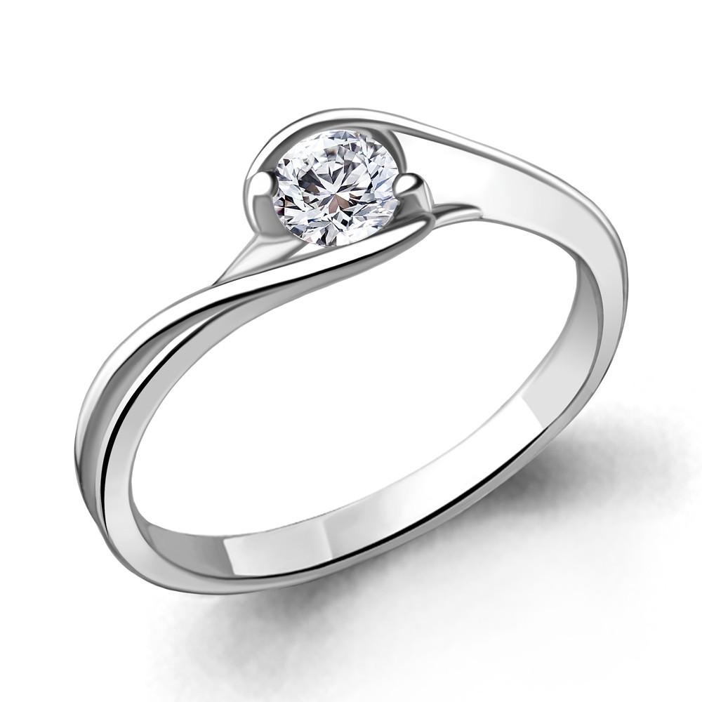Кольцо из серебра с фианитом Swarovski