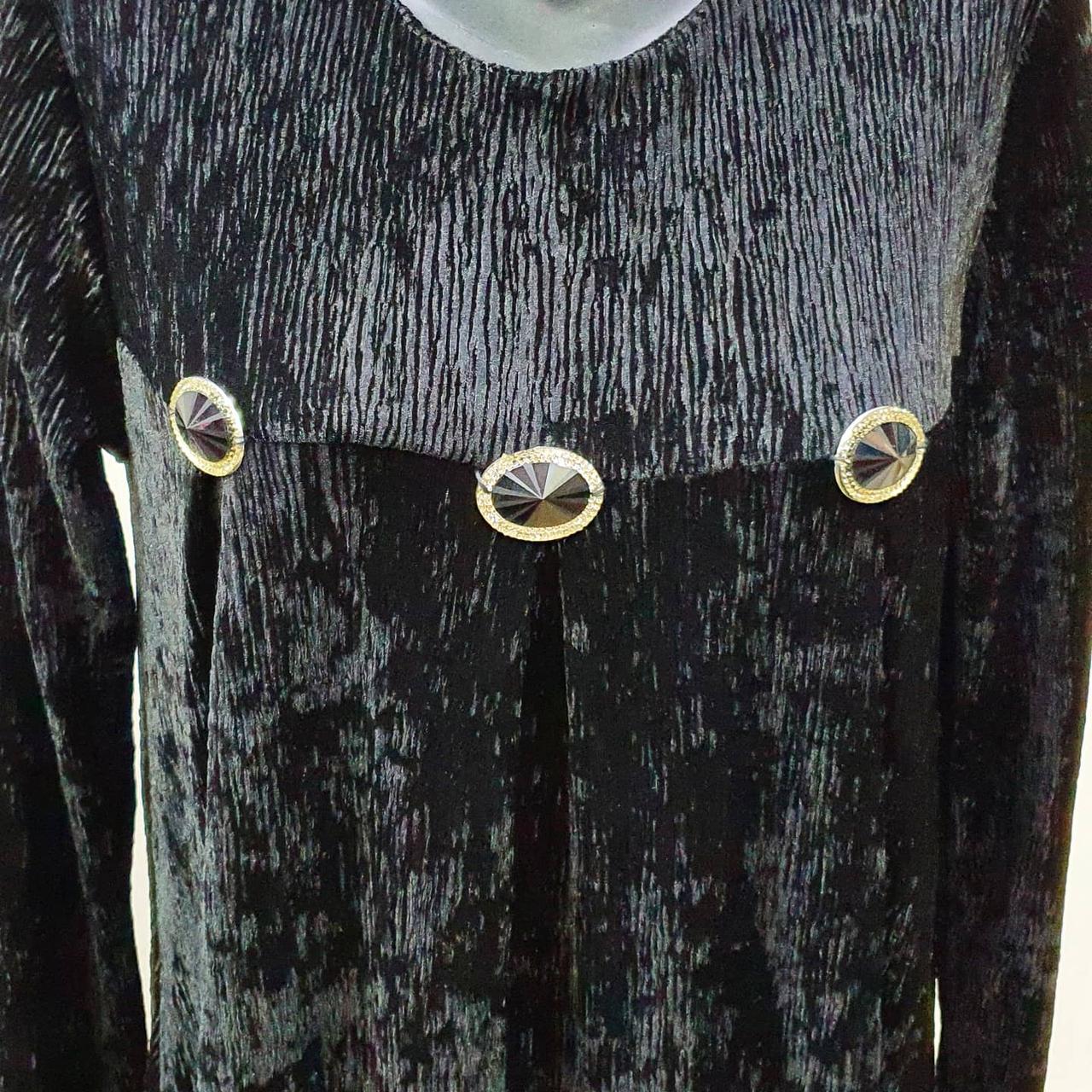 Платье велюр - фото 2