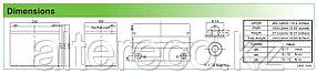 Тяговый аккумулятор Challenger EV12-75 (12В, 75Ач), фото 2