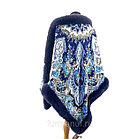 Павловопосадский платок «Княжна» с мехом песца цвет графит (146х146см), фото 3