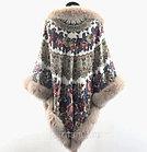 "Павловопосадский платок с мехом ""Молитва» (146х146см), фото 3"