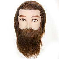 Манекен головы мужской 100% натуральный волос (шатен)