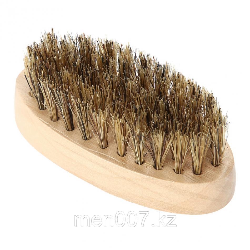 Щетка для бороды овальная (бамбук)