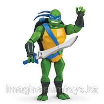 Игрушка Черепашки-ниндзя Фигурка Лео с панцирем для оружия 27 см