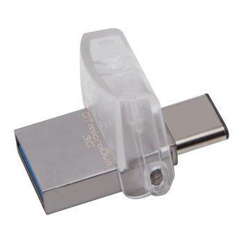 USB Флеш 64GB 3.0 Kingston OTG DTDUO3C/64GB металл