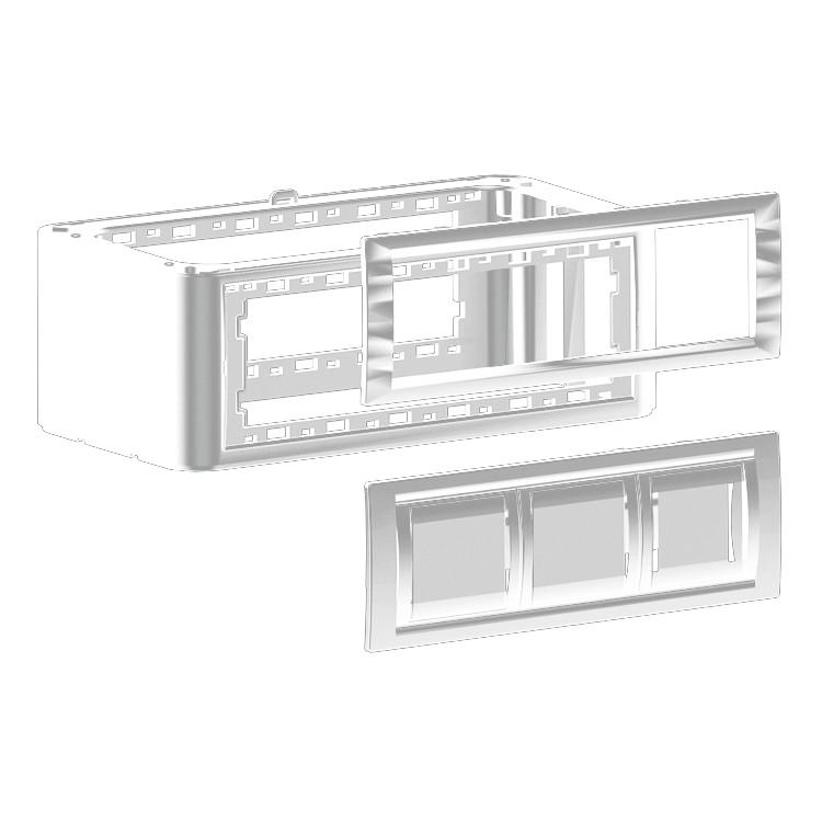 DKC Вертикальное расширение напольной башенки BUS, Белое