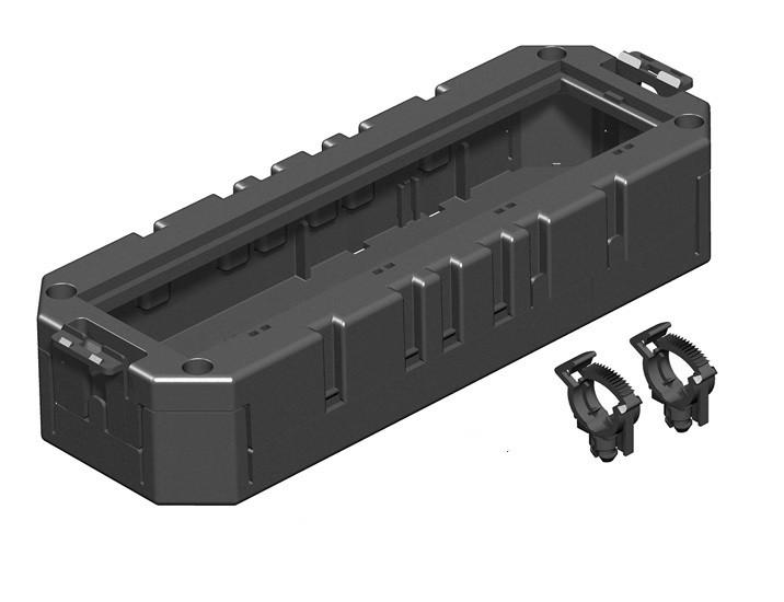 OBO Bettermann Монтажная коробка GB3 для установки в лючок для 4xModul45 (полиамид,черный)