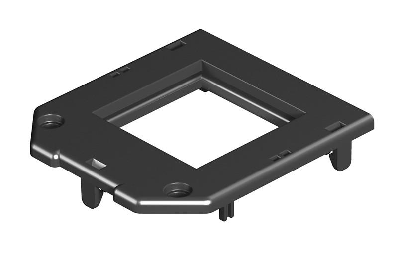 OBO Bettermann Накладка монтажной коробки GB2/3 1xModul45 61x76 мм (полиамид,черный)