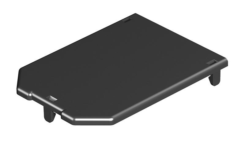 OBO Bettermann Заглушка для монтажной коробки GB2/3 104x76 мм (полиамид,черный)