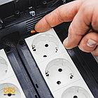 7408723 Монтажная коробка UT3 для установки в лючок с накладкой для 3xModul45 (полиамид,черный) OBO Bettermann, фото 4