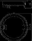 OBO Bettermann Лючок GES R2 40х140 мм, Хромированный, фото 2
