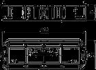 7408727 Монтажная коробка UT4 для установки в лючок с накладкой для 4xModul45 OBO Bettermann, фото 2