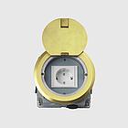 Напольный лючок на 1 модуль Mosaic 45 (45*45) , круглый, цвет золото, HTD-140K, фото 2