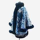 Пальто из павловопосадских платков с мехом, фото 2