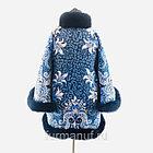 Пальто из павловопосадских платков с мехом, фото 3