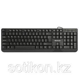 Клавиатура проводная Defender OfficeMate HM-710 KZ черный