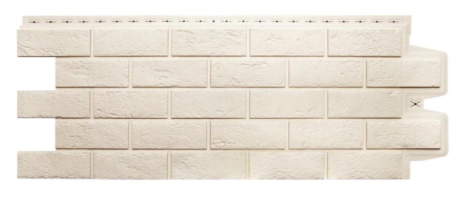 Фасадные панели Молочный 1000x400 мм Состаренный кирпич Grand Line