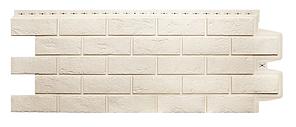 Фасадные панели Молочный 1000x400 мм Состаренный кирпич,серия Стандарт (моноцвет) Grand Line