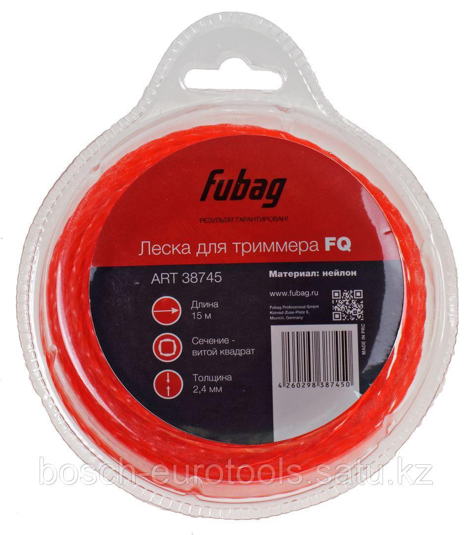 FUBAG Триммерная леска_сечение витой квадрат_L 15 м * 2.4 мм