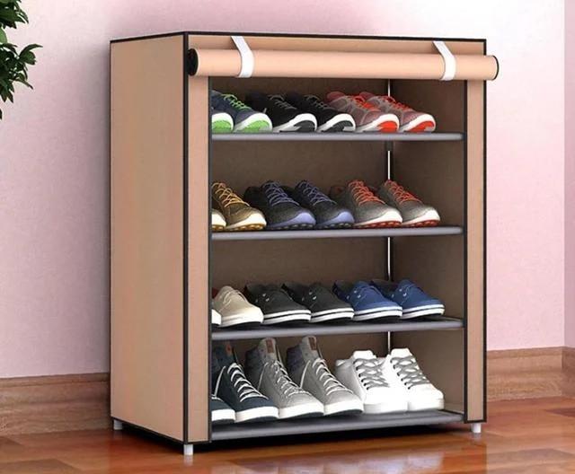 Портативная стойка для обуви 4 яруса