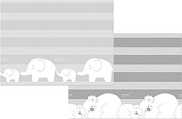 "Детский коврик Prime Living ""Коалы/Слоники за хвостики"", 200x180x1.5 см"