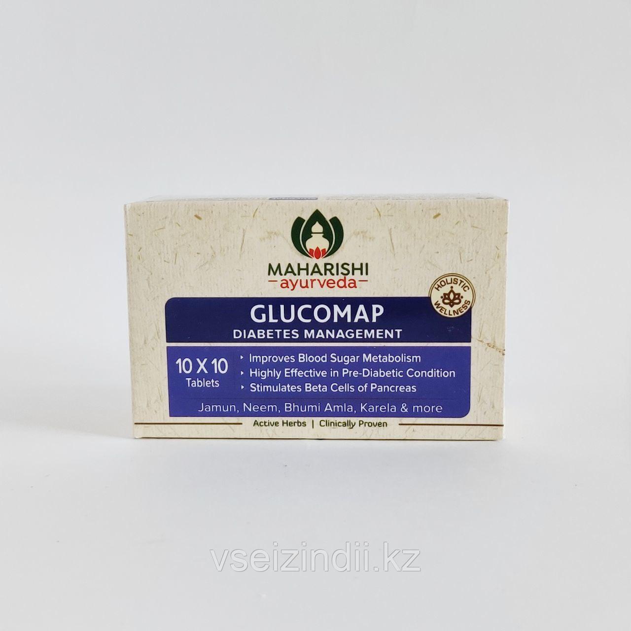 Глюкомап, Махариши Аюрведа (Glucomap, Maharishi Ayurveda). Понижает уровень сахара, 100 табл.
