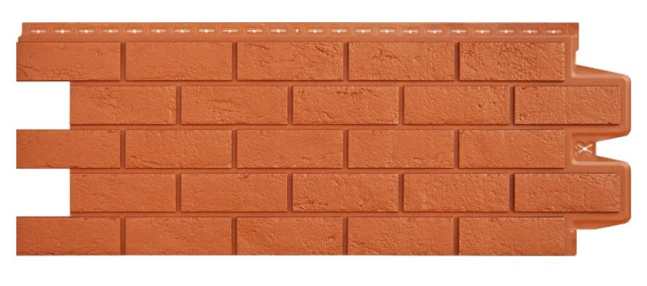 Фасадные панели Терракотовый 1000x400 мм Состаренный кирпич,серия Стандарт (моноцвет) Grand Line