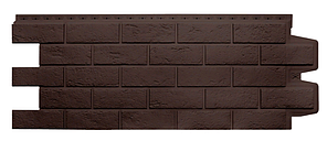 Фасадные панели Коричневый 1000x400 мм Состаренный кирпич,серия Стандарт (моноцвет) Grand Line