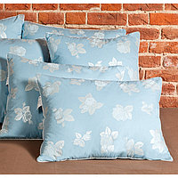 Подушка «Аракса», размер 68 × 68 см, тик, голубой