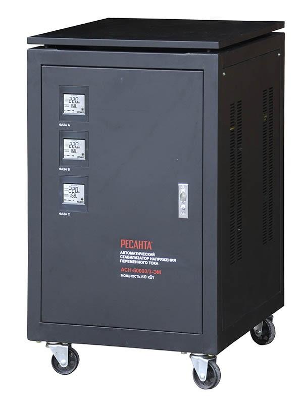Стабилизатор напряжения РЕСАНТА АСН-60000/3-ЭМ + Мультиметр РЕСАНТА YX360TRN
