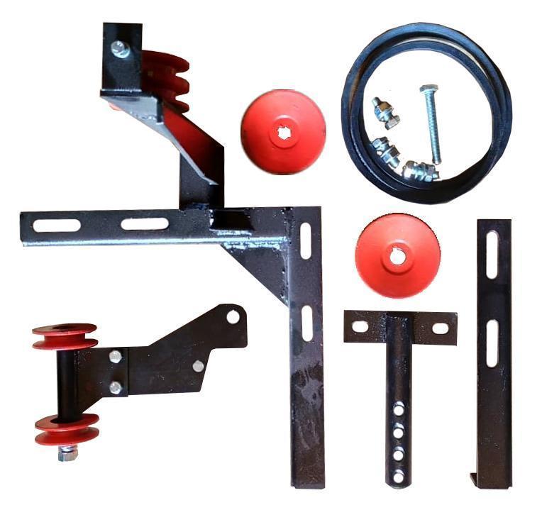Комплект установки роторной косилки ВОМ/Ремень для мотоблоков с ВОМ универсальный вал 18 мм