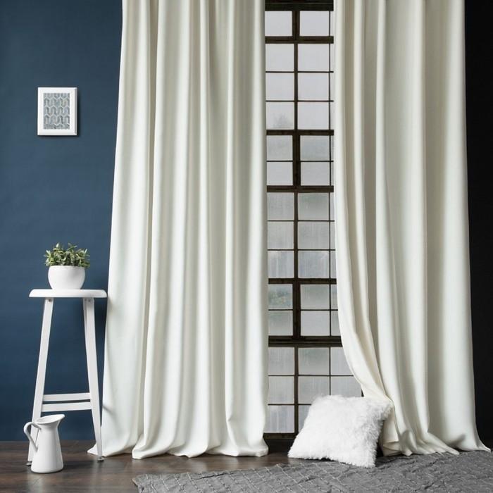 Комплект штор «Конни», размер 200 × 270 см- 2 шт, подхват-2 шт см, цвет белый