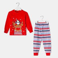 Пижама детская, цвет красный, рост 92 см (52)
