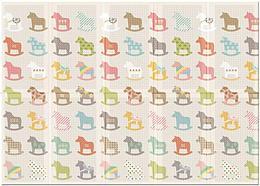 """Портативный коврик Portable """"Деревянные лошадки"""", 140x200x1.0 см"""