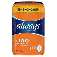 ALWAYS Прокладки ULTRA НОРМАЛ ПЛЮС 36шт 4кап