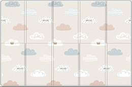 "Складной коврик Sillky Portable ""Облачка"", 140x200x1.0 см"
