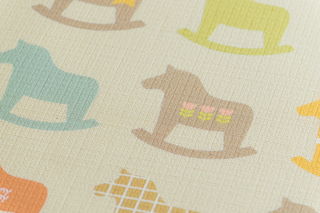 """Детский коврик Sillky """"Деревянные лошадки"""", 230x140x1.2 см"""
